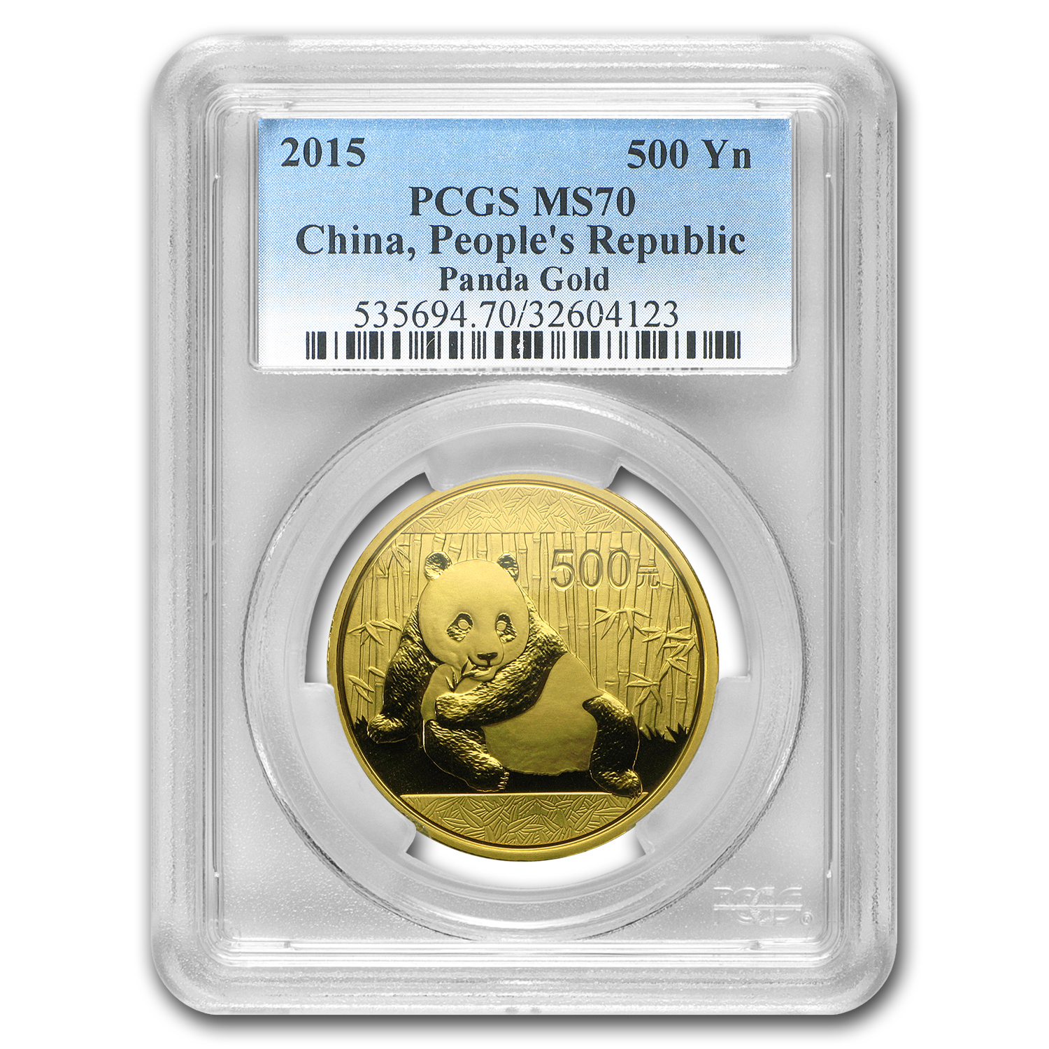 2015 China 1 oz Gold Panda MS-70 PCGS