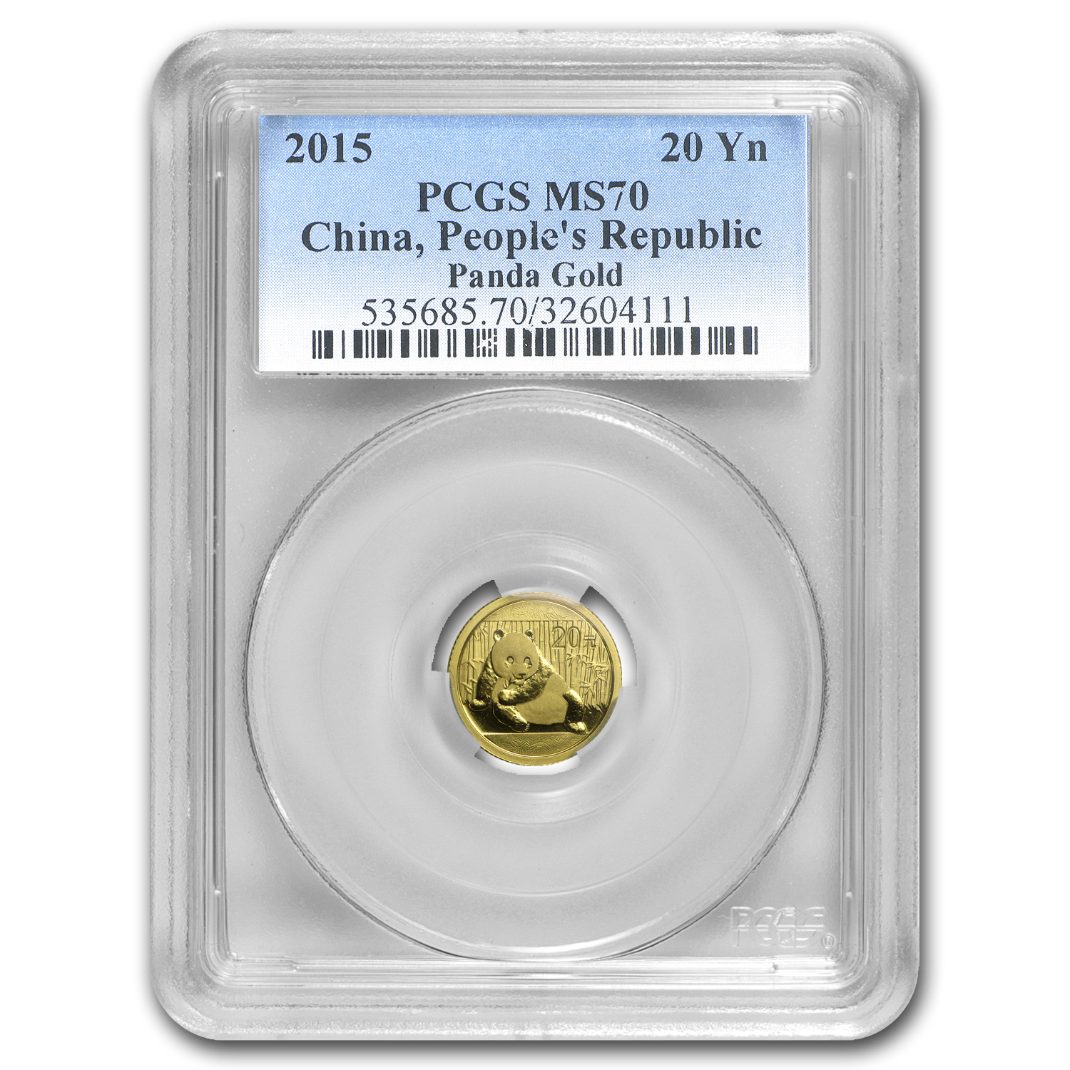 2015 China 1/20 oz Gold Panda MS-70 PCGS