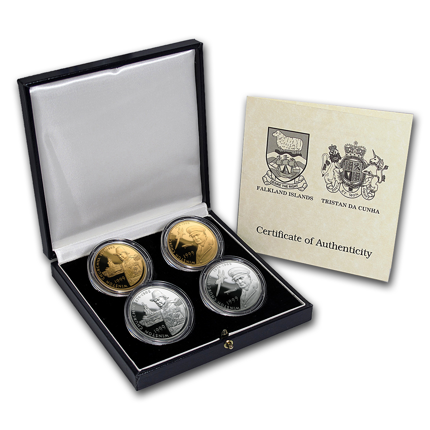 1999 4-Coin Gold & Silver Churchill Proof Set