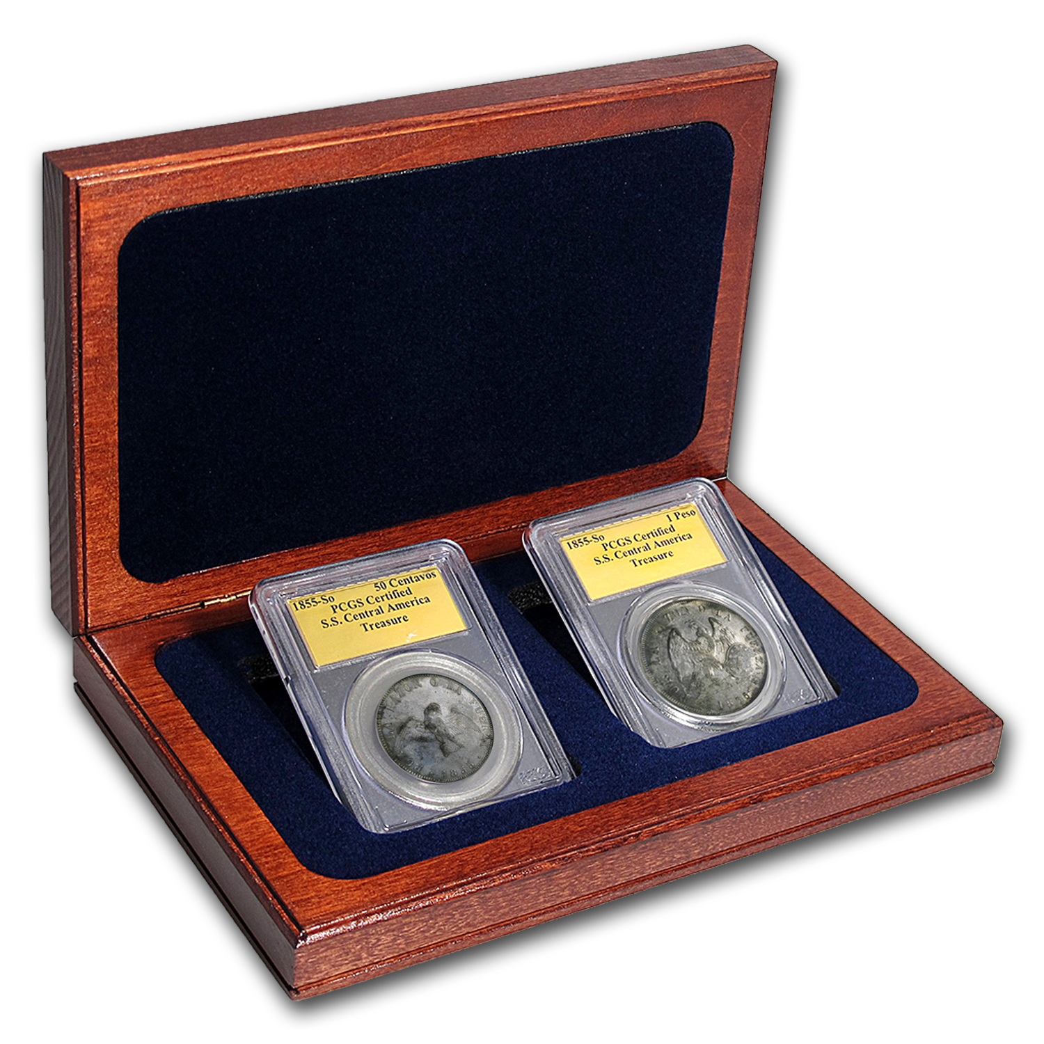 1855 Chile Silver SS Central America Coin Set PCGS