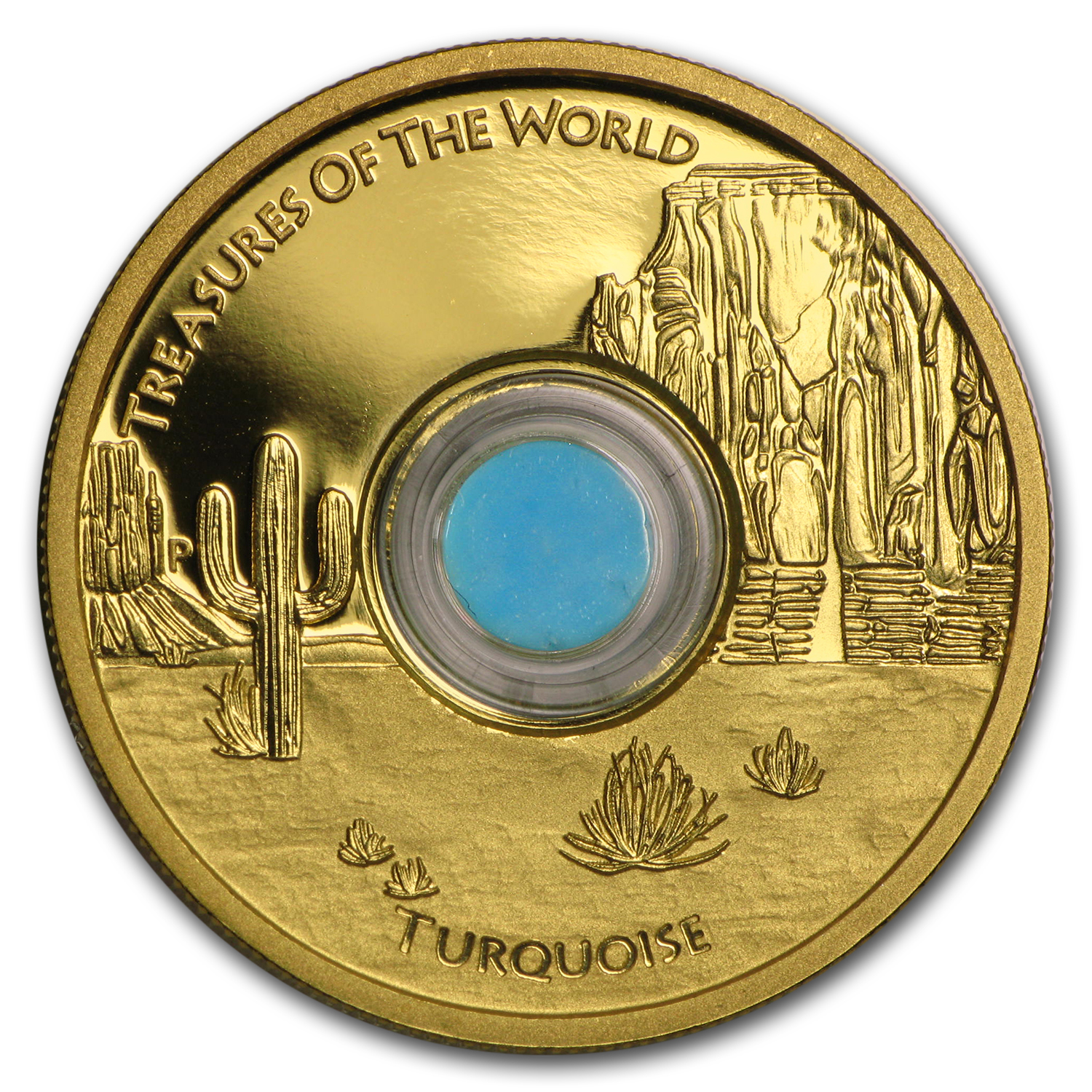 2015 AUS 1 oz Gold Treasures of the World Locket (North America)