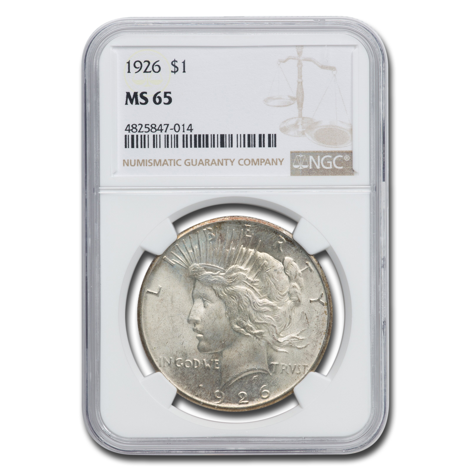 1926 Peace Dollar MS-65 NGC
