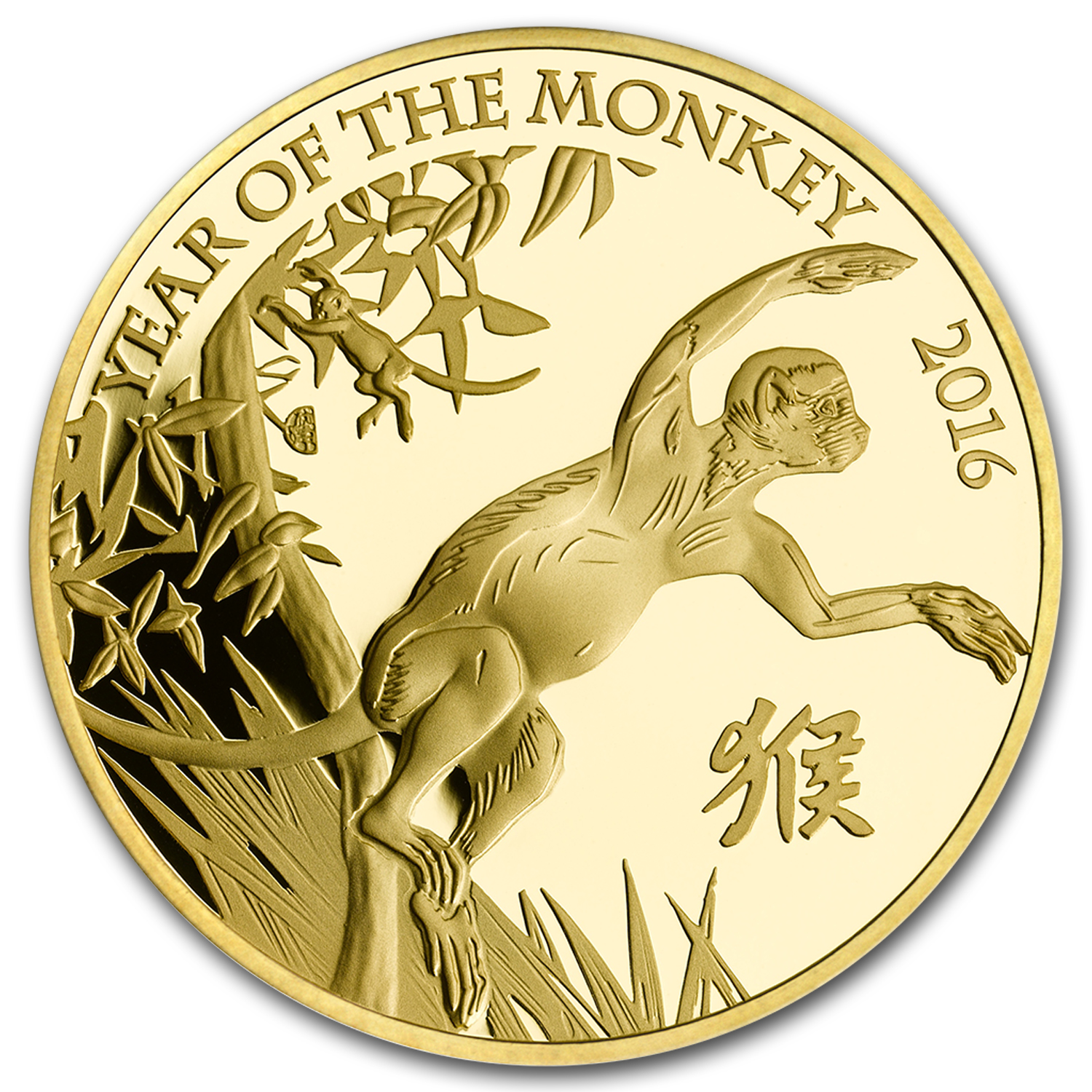 2016 Great Britain 5 oz Gold Year of the Monkey Proof (w/Box&COA)
