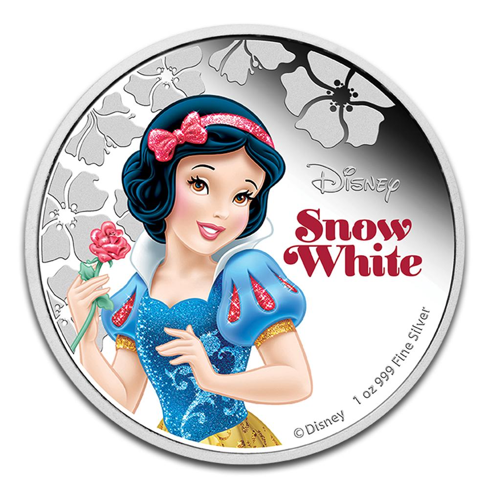 2015 Niue 1 Oz Silver 2 Disney Princess Snow White New