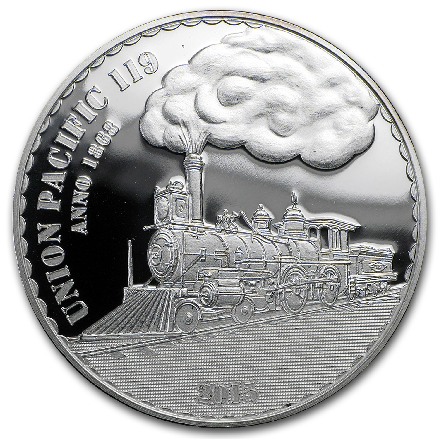 2015 Cameroon 1 oz Silver 1000FR CFA Union Pacific