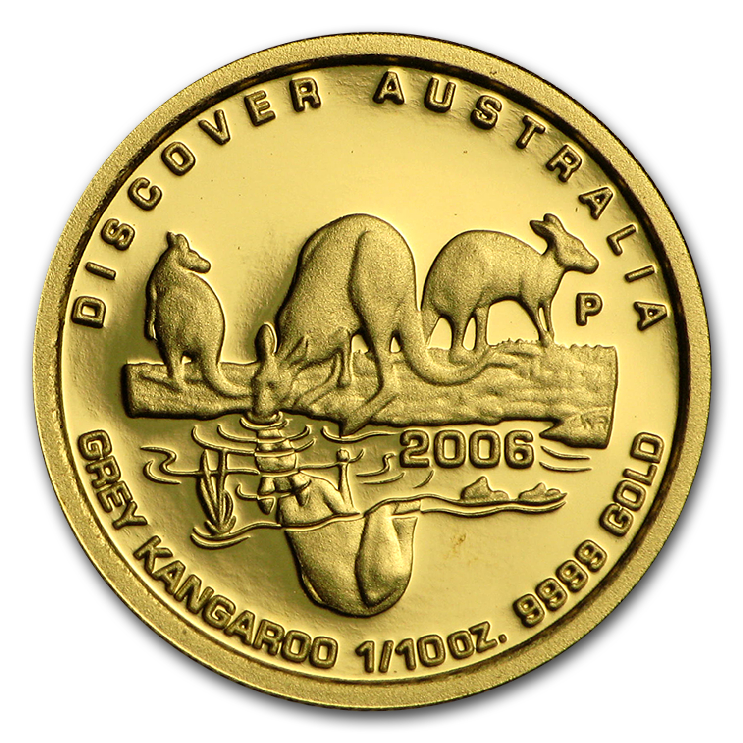 2006 1/10 oz Gold Kangaroo Discover Australia Proof