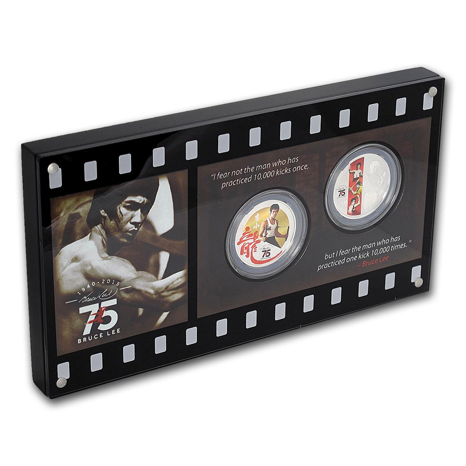 Bruce Lee 75th Anniversary Limited Edition 2 Coin Set