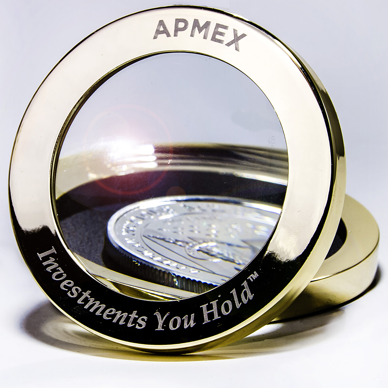 APMEX - Paperweight Coin Magnifier - Promo Item