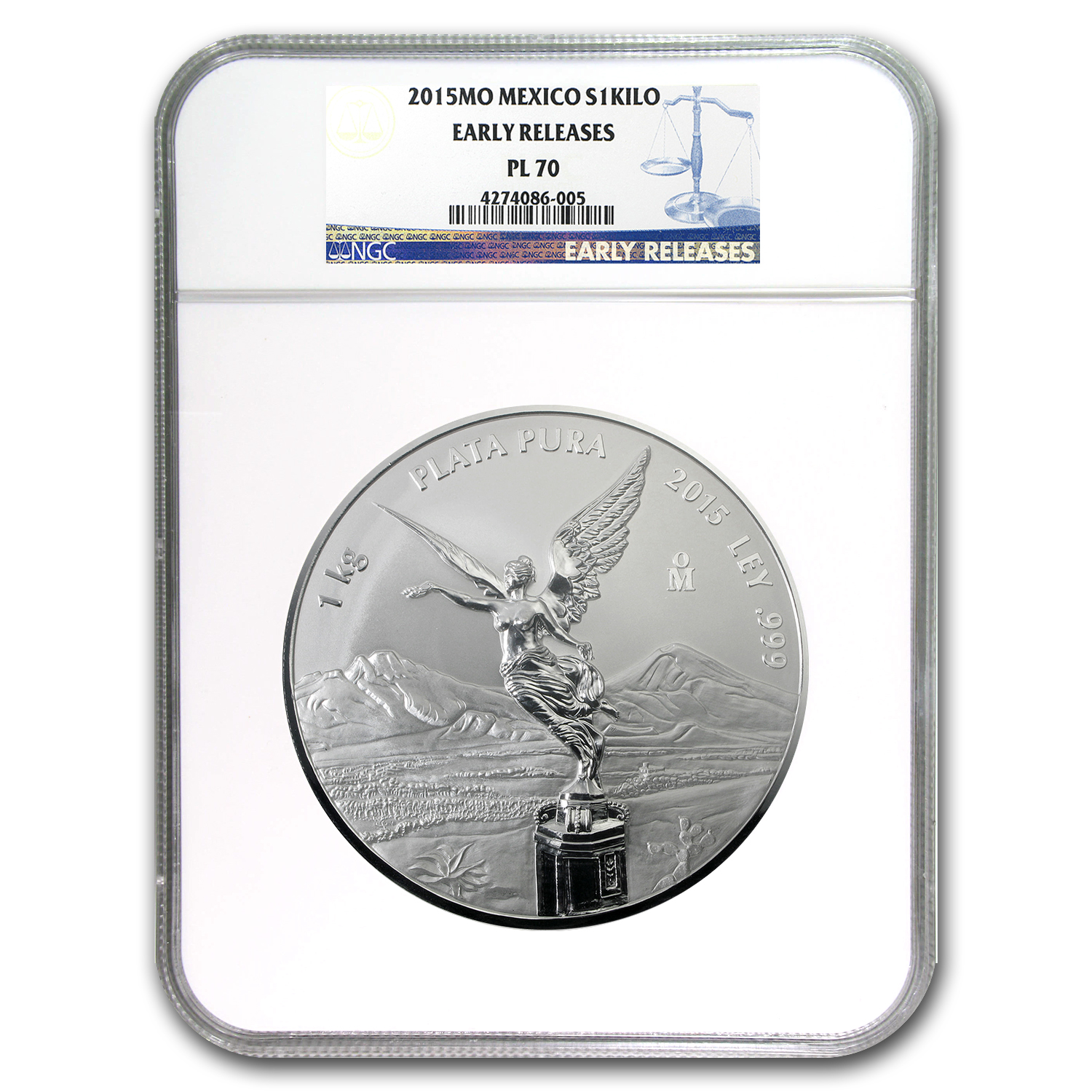 2015 Mexico 1 kilo Silver Libertad Proof Like PL-70 NGC (ER)