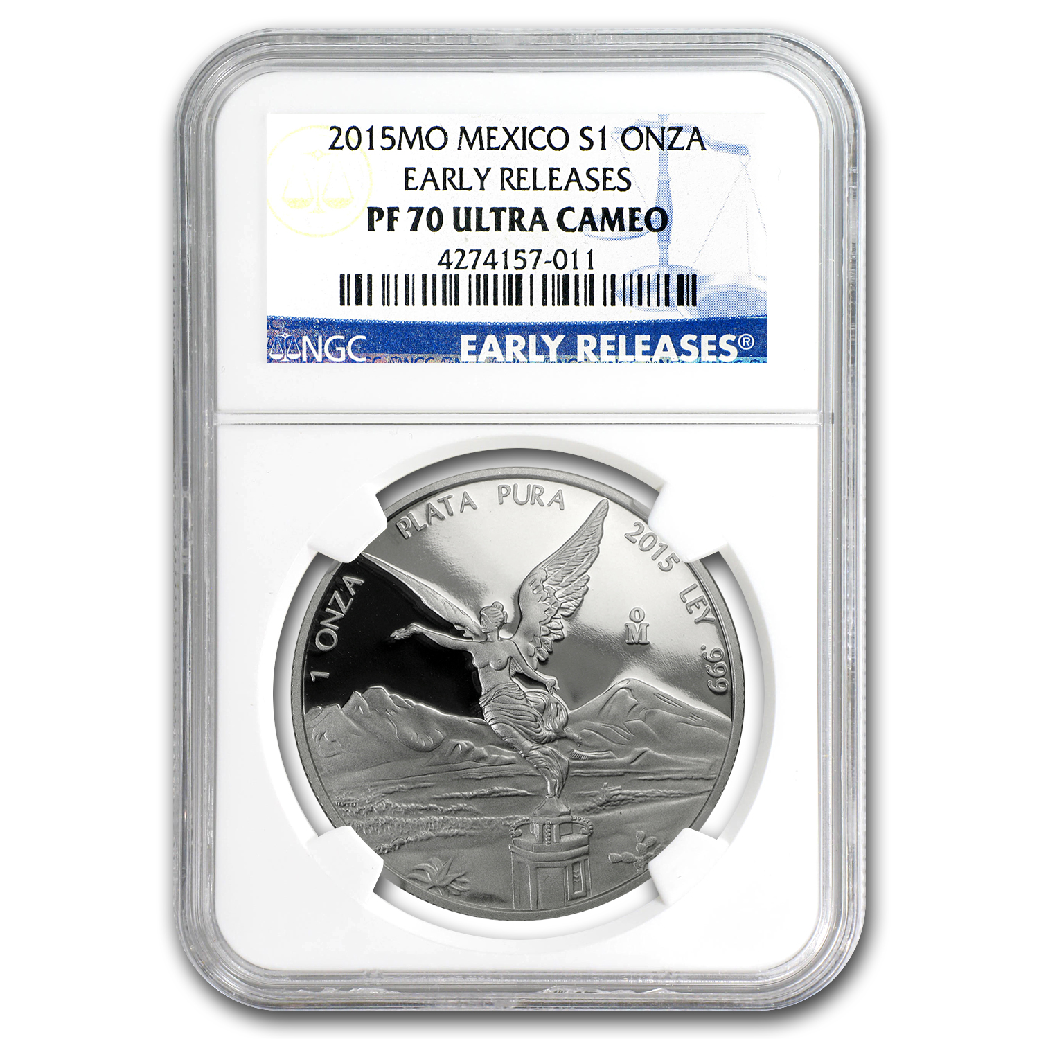 2015 Mexico 2-Coin Silver Libertad Proof/Reverse PL-70 NGC (ER)