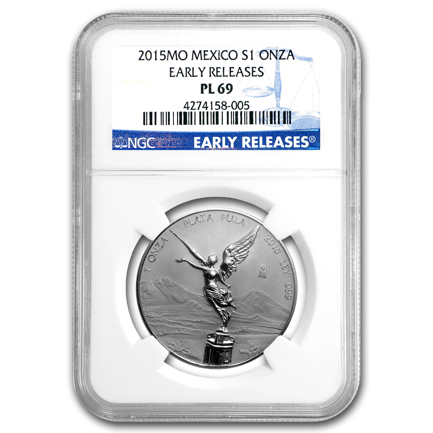 2015 Mexico 1 oz Silver Libertad Reverse Proof PL-69 NGC (ER)