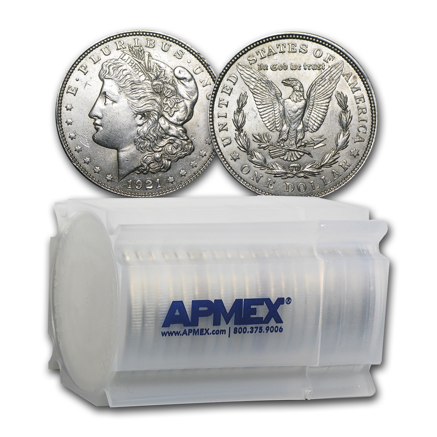1921 P, D, or S Mint Morgan Silver Dollar AU (20-Count Roll)