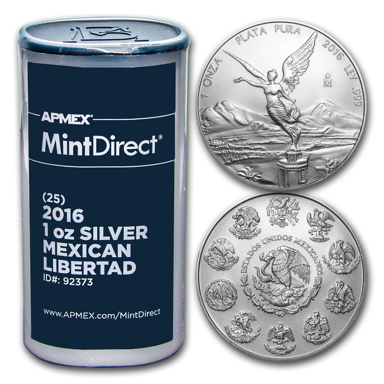 2016 Mexico 1 oz Silver Libertad (25-Coin MintDirect® Tube)