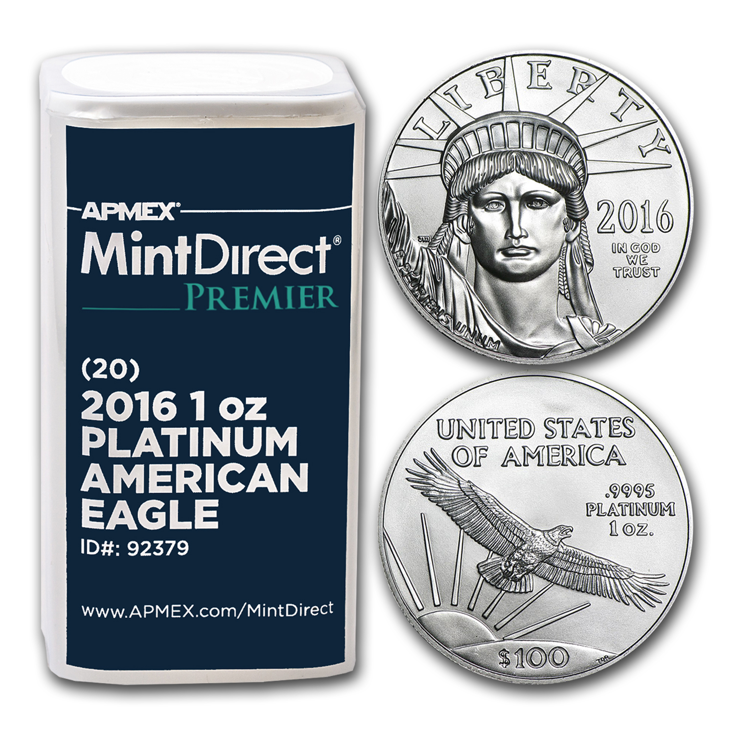 2016 1 Oz Platinum Eagle 20 Coin Mintdirect 174 Premier Tube