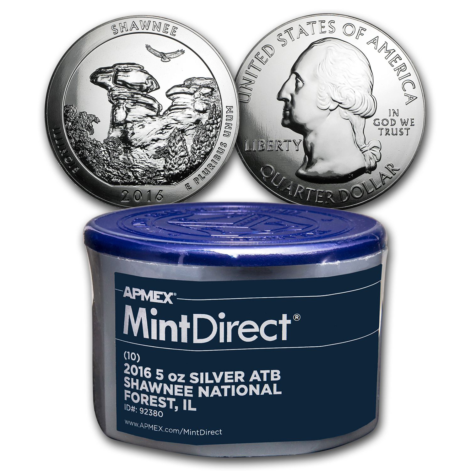 2016 5 oz Silver ATB Shawnee (10-Coin MintDirect® Tube)