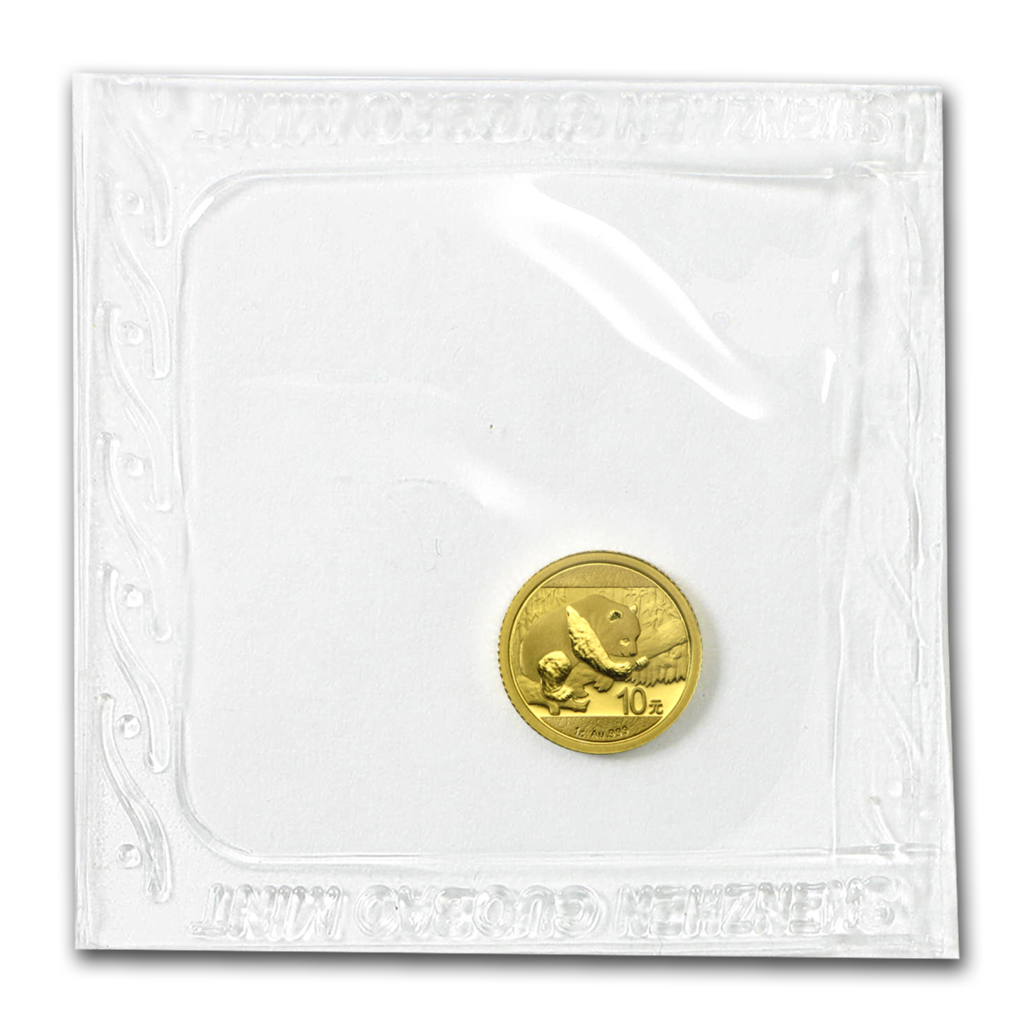 2016 China 1 gram Gold Panda BU (Sealed)