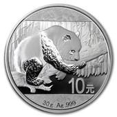 2016 China 30 gram Silver Panda BU (In Capsule)