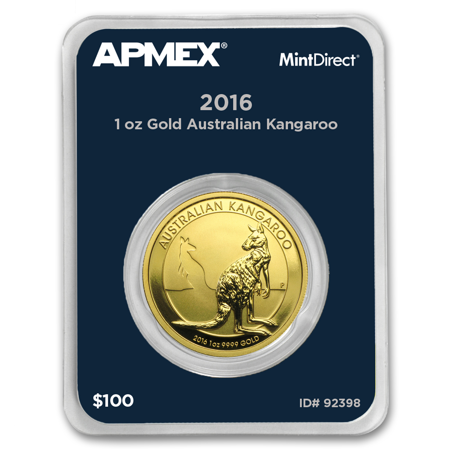 2016 Australia 1 oz Gold Kangaroo (MintDirect® Single)