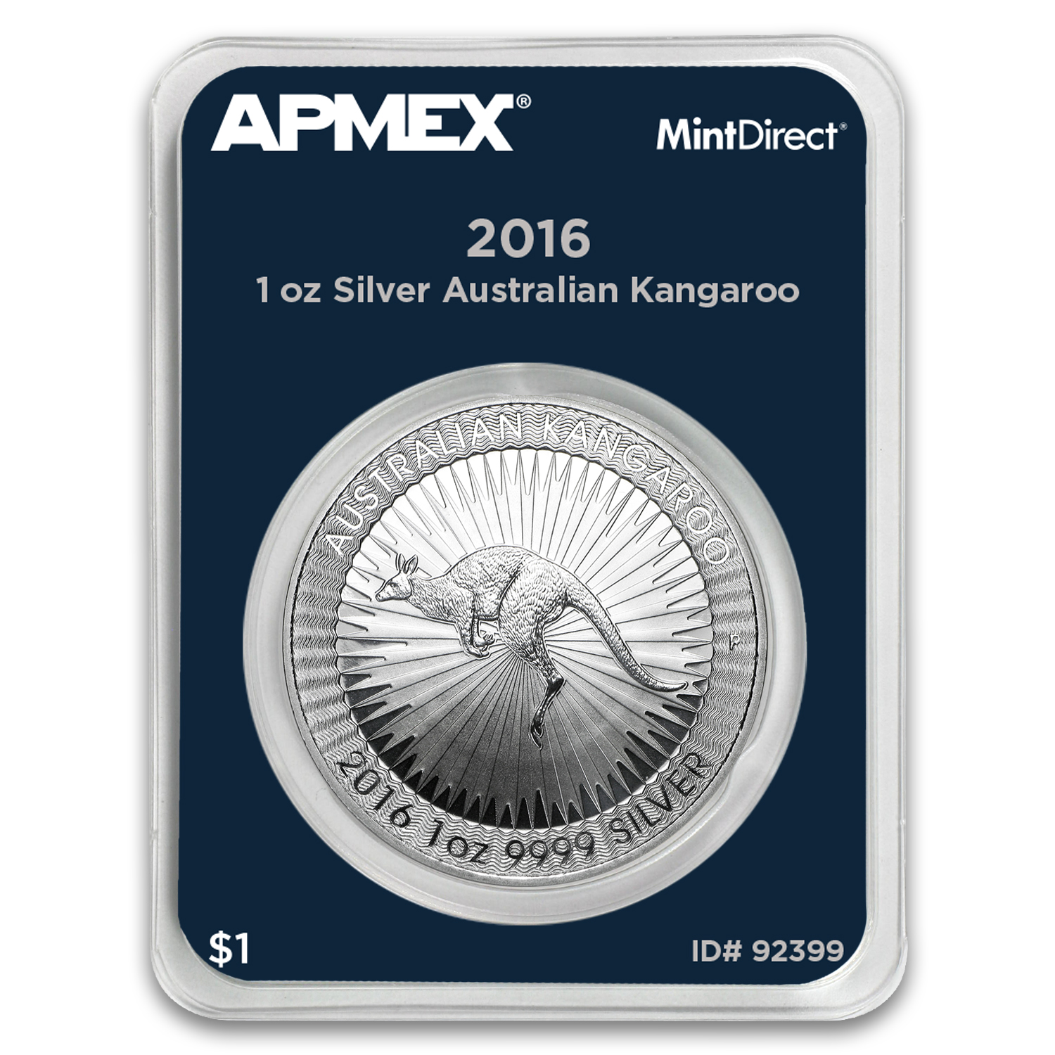 2016 Australia 1 oz Silver Kangaroo (MintDirect® Single)