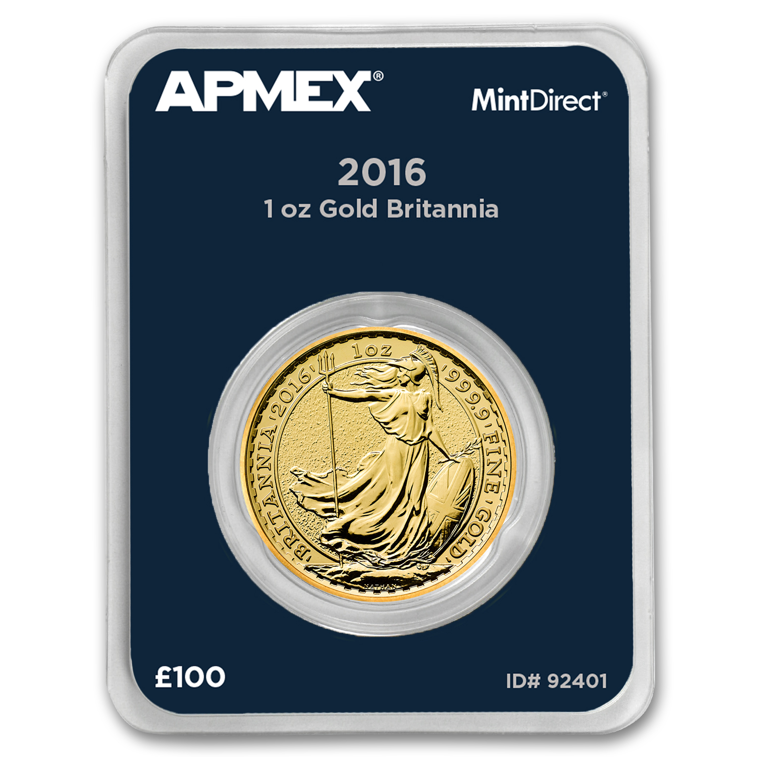 2016 Great Britain Gold 1 oz Britannia BU (MintDirect® Single)