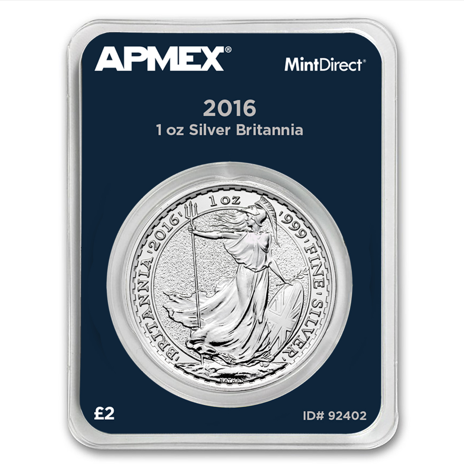 2016 Great Britain 1 oz Silver Britannia BU (MintDirect® Single)