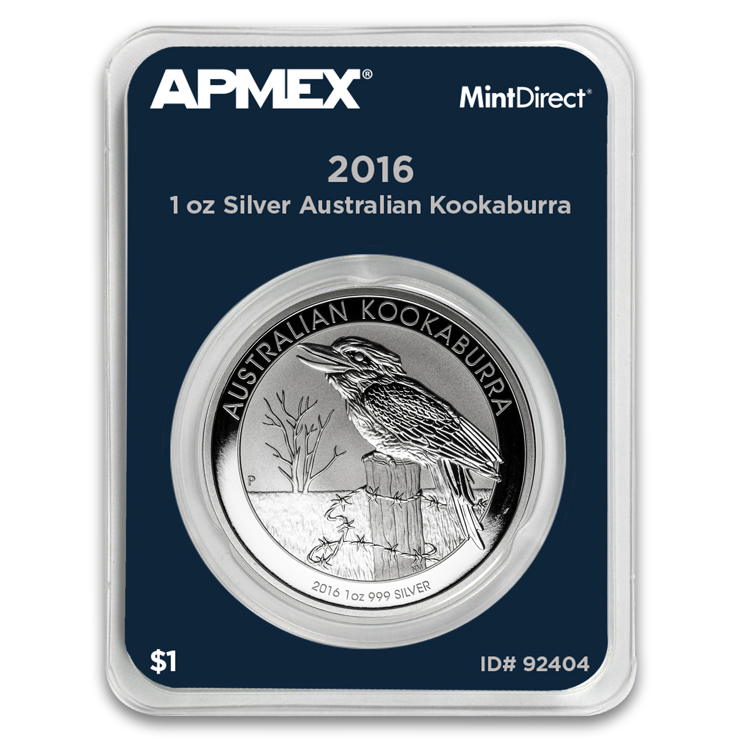 2016 Australia 1 oz Silver Kookaburra BU (MintDirect® Single)