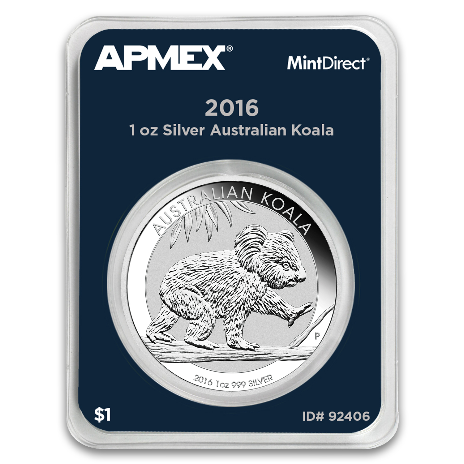 2016 Australia 1 oz Silver Koala BU (MintDirect® Single)