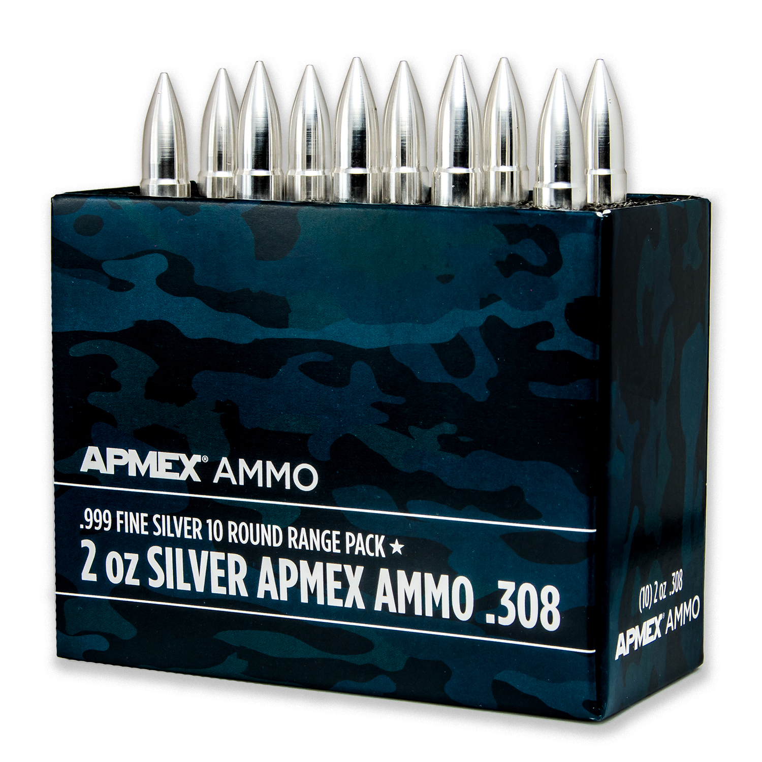 2 oz Silver Bullet - .308 Caliber 10-Count Range Pack