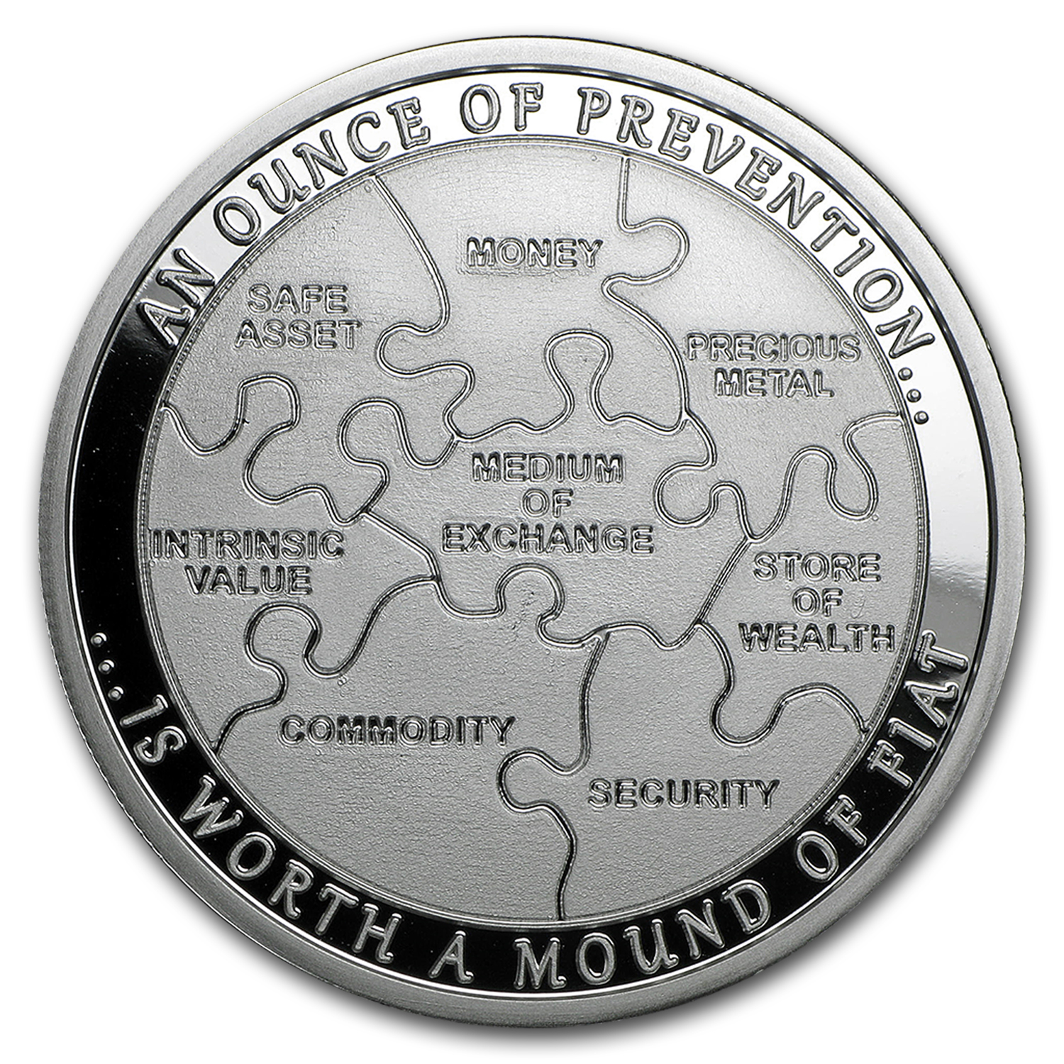 1 oz Silver Round - An Ounce of Prevention: Security