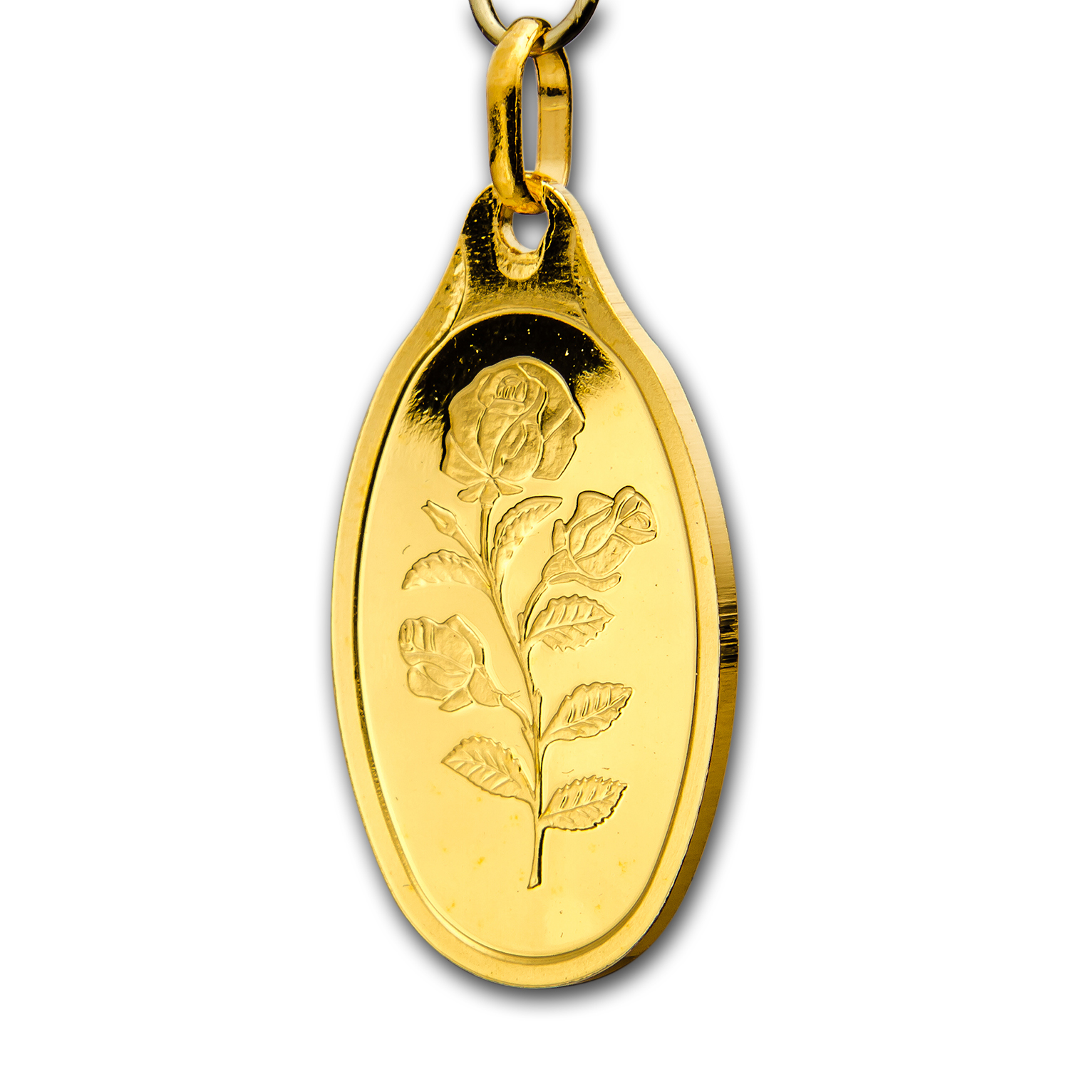 5 gram Gold Pendant - Pamp Suisse (Rose, Oval, w/out Assay)