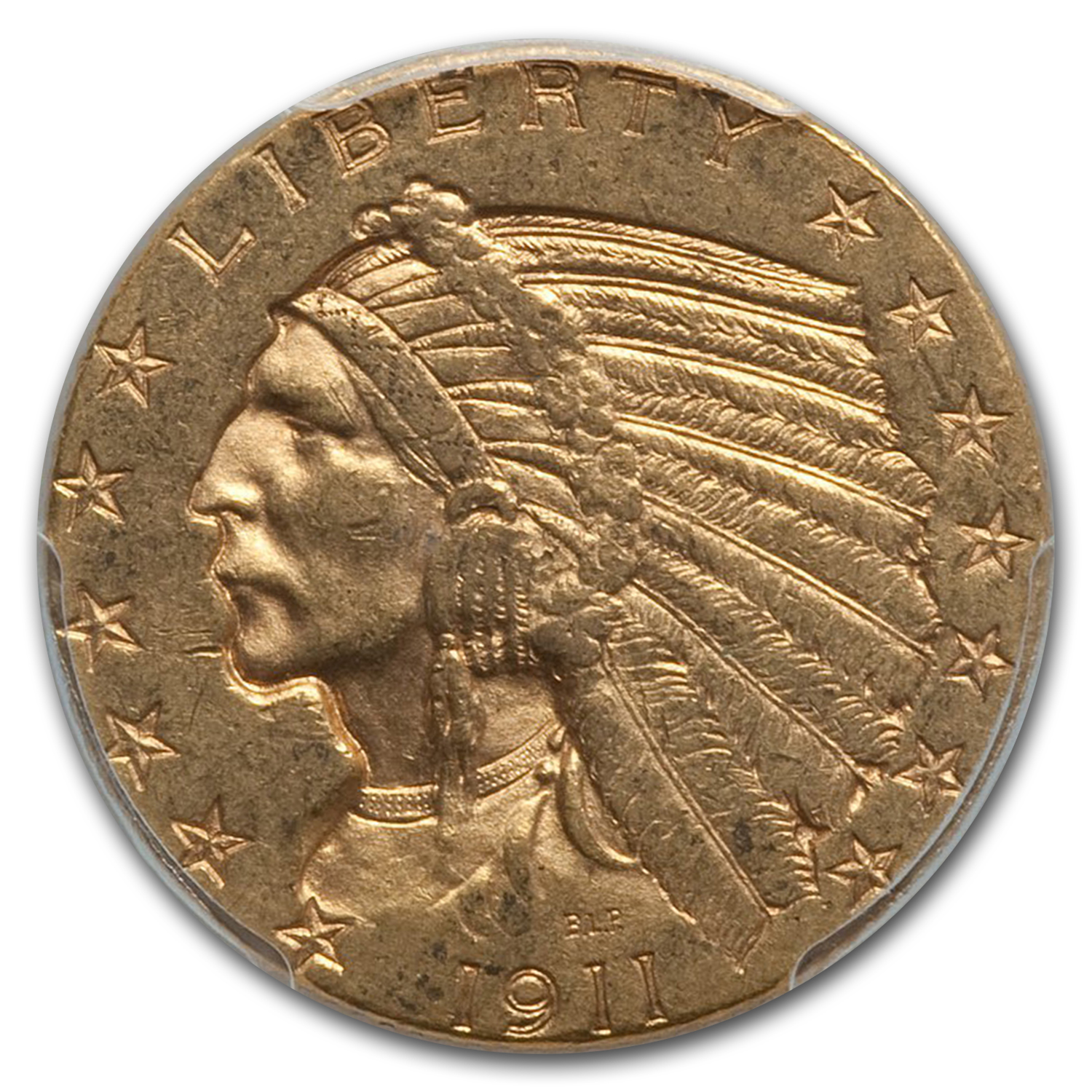 1911-S $5 Indian Gold Half Eagle AU-55 PCGS