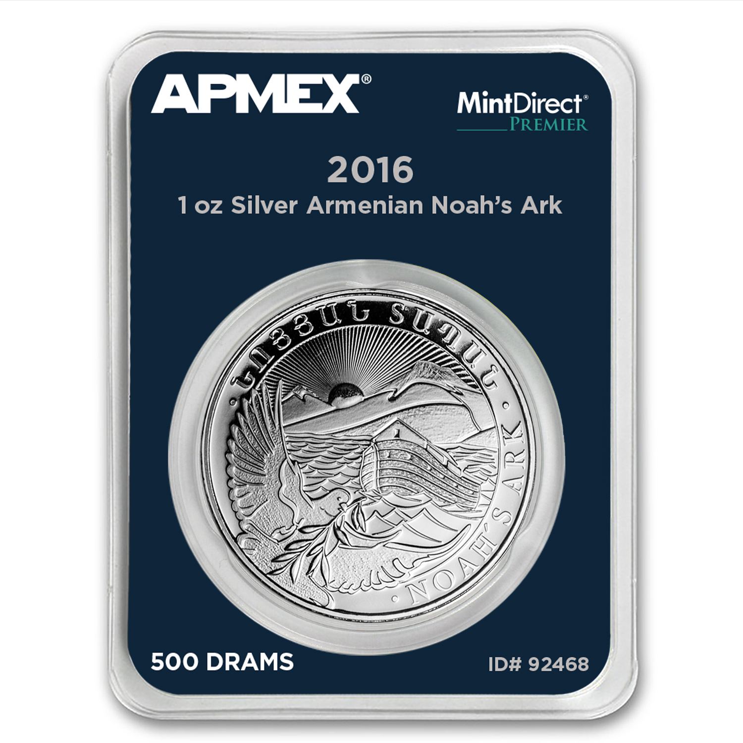 2016 Armenia 1 oz Silver Noah's Ark (MintDirect® Premier Single)