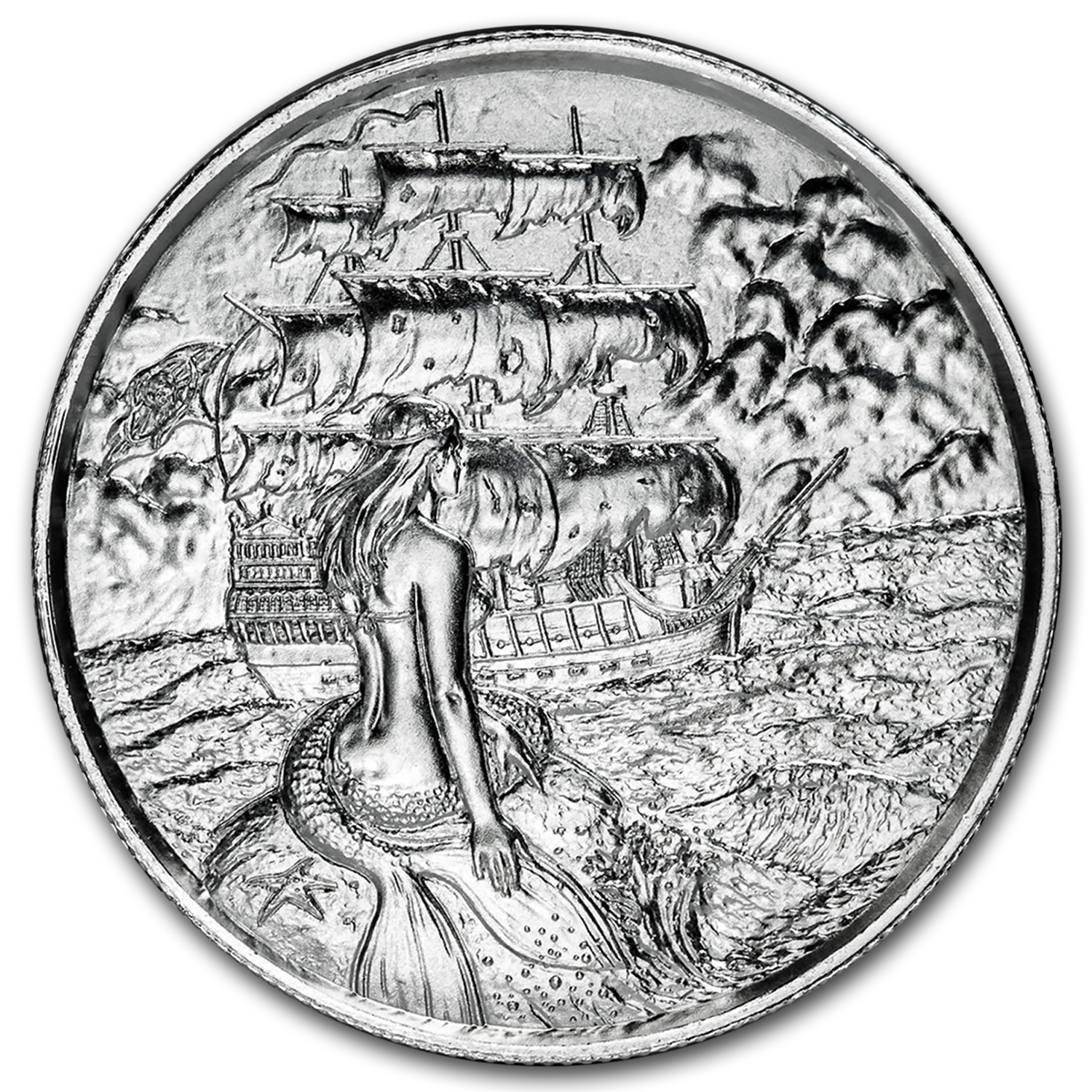 2 oz Silver Round - The Siren (Ultra High Relief)