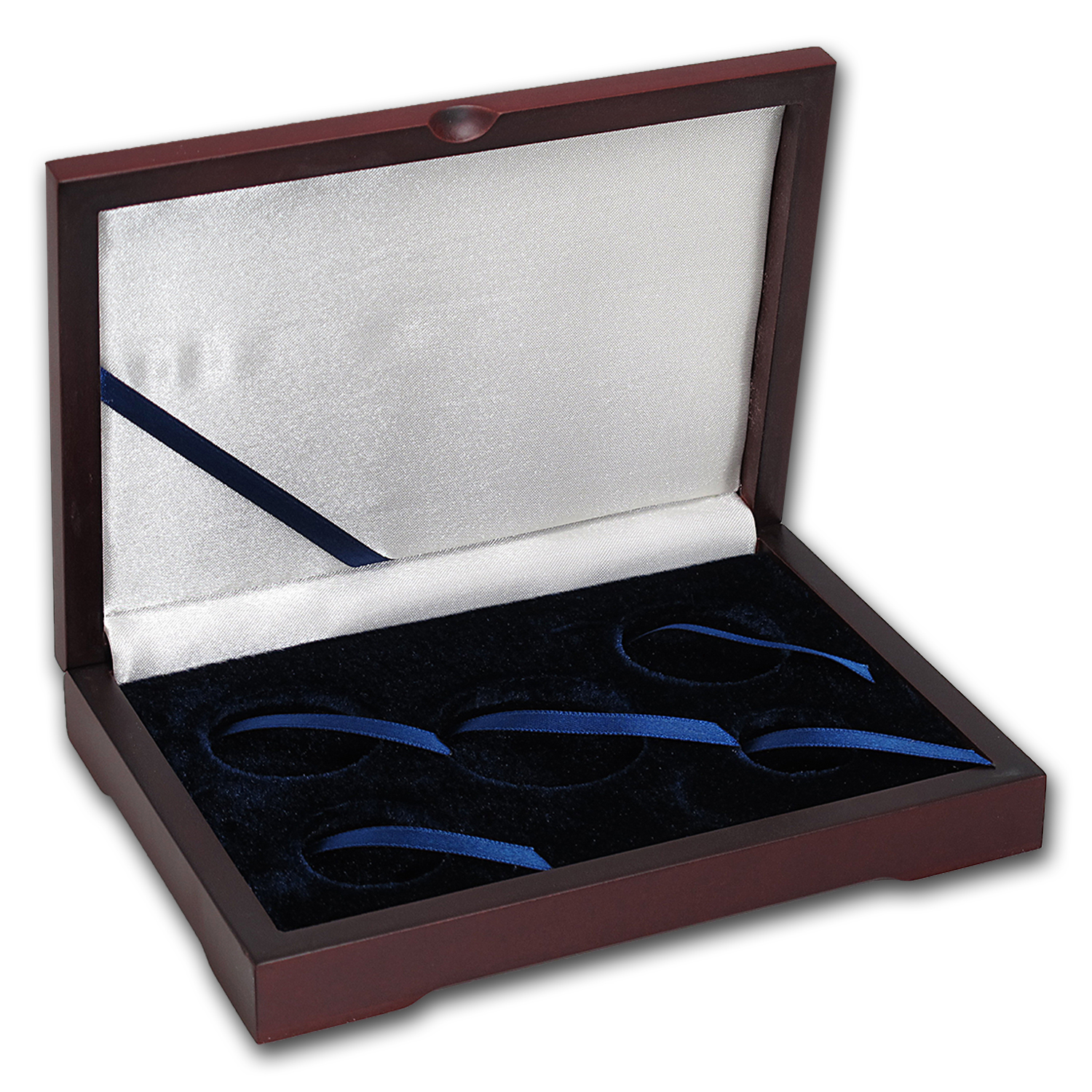 5 coin Wood Presentation Box - Silver/Gold Eagle Sets
