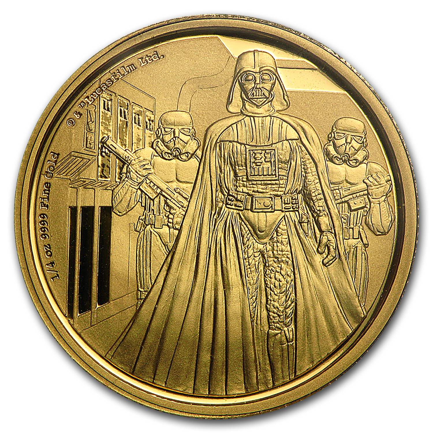 2016 Niue 1/4 oz Gold $25 Star Wars Darth Vader Proof (Box & COA)