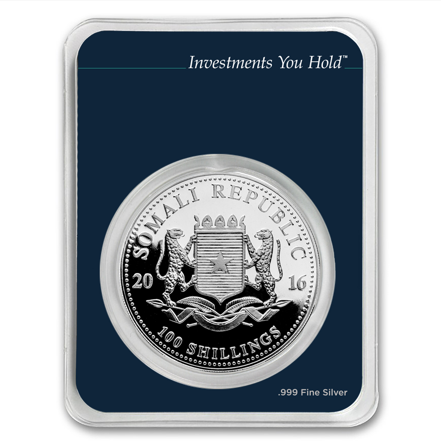 2016 Somalia 1 oz Silver Elephant (MintDirect® Single)