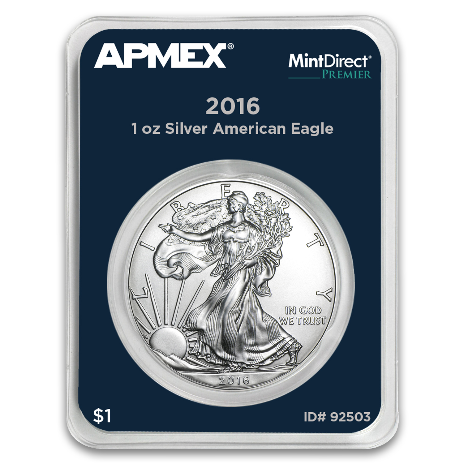 2016 1 oz Silver Eagle (MintDirect® Premier Single)