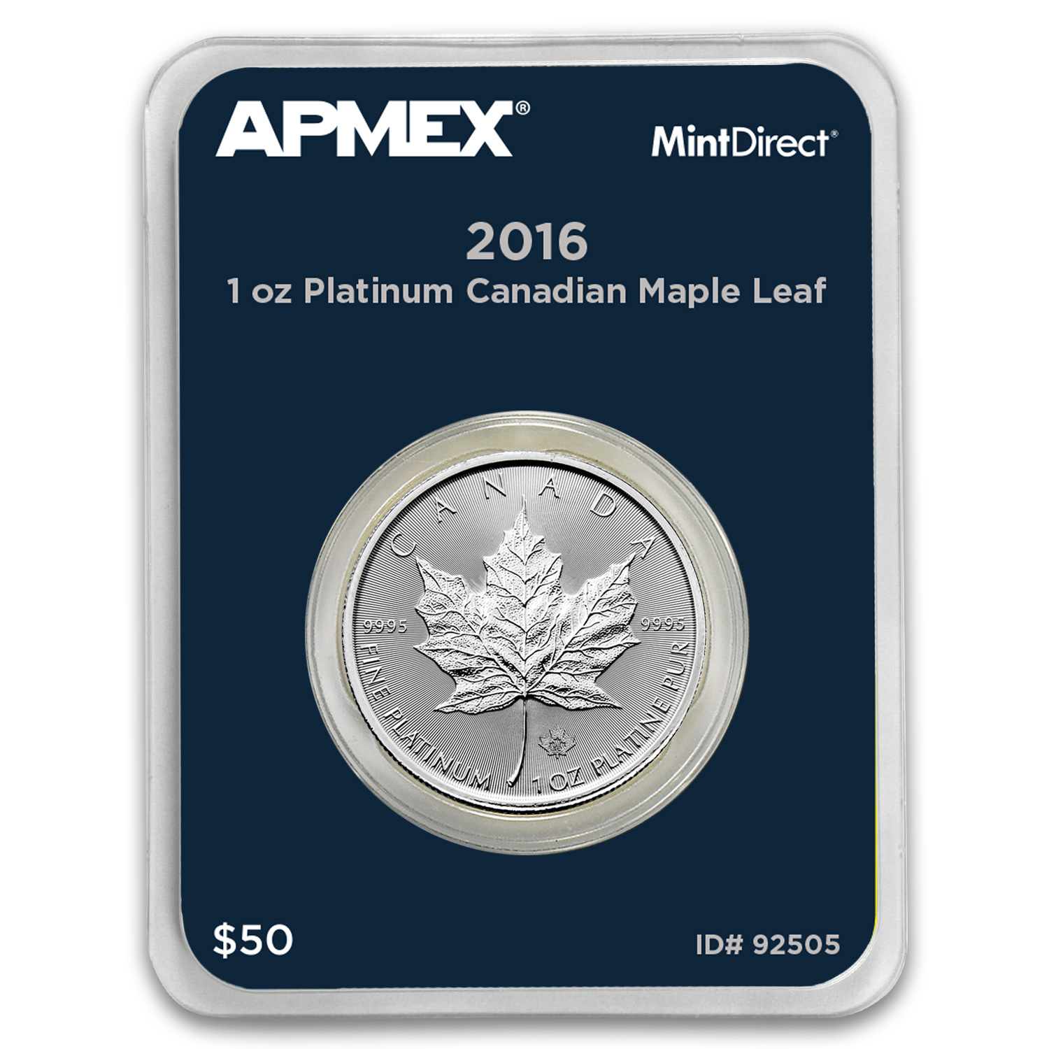 2016 Canada 1 oz Platinum Maple Leaf (MintDirect® Single)
