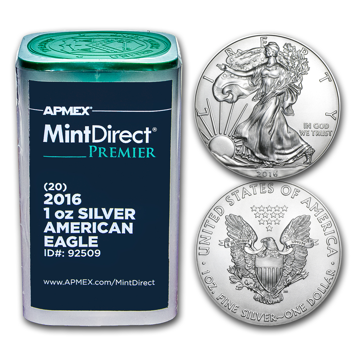 2016 1 oz Silver Eagles (20-Coin MintDirect® Premier Tube)