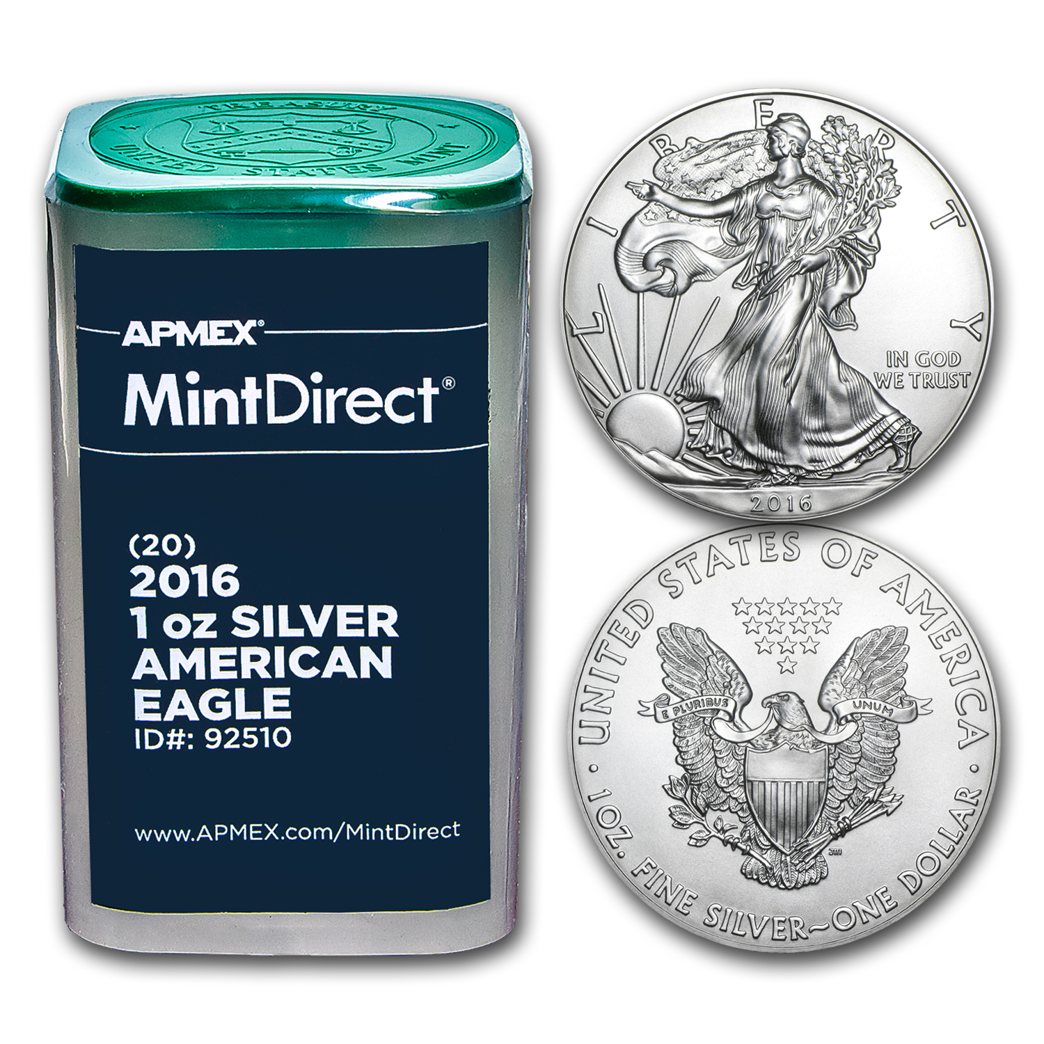 2016 1 oz Silver American Eagles (20-Coin MintDirect® Tube)