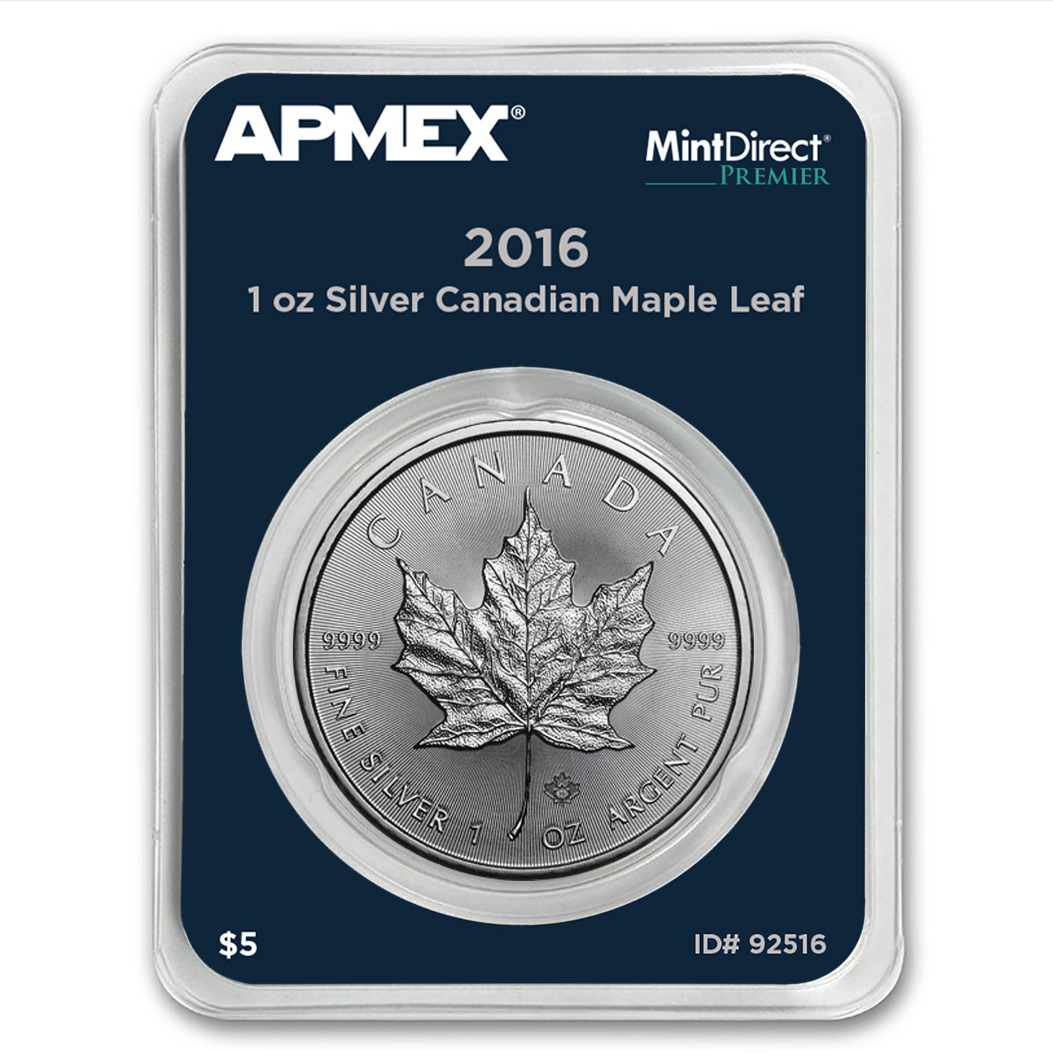 2016 1 oz Silver Maple Leaf (MintDirect® Premier Single)