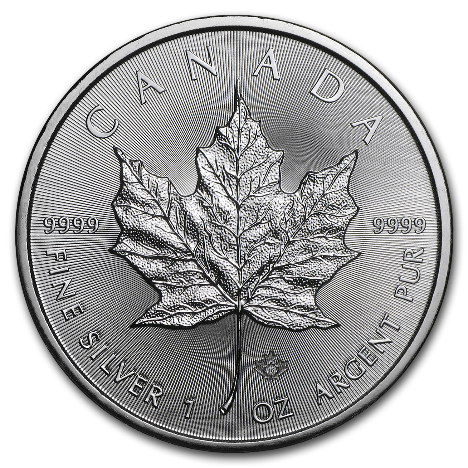 2016 Canada 1 oz Silver Maple Leaf (25-Coin MintDirect® Tube)