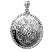 2015 Niue 1 oz Silver $2 Hawksbill Turtle Pendant (Diamond-Cut)