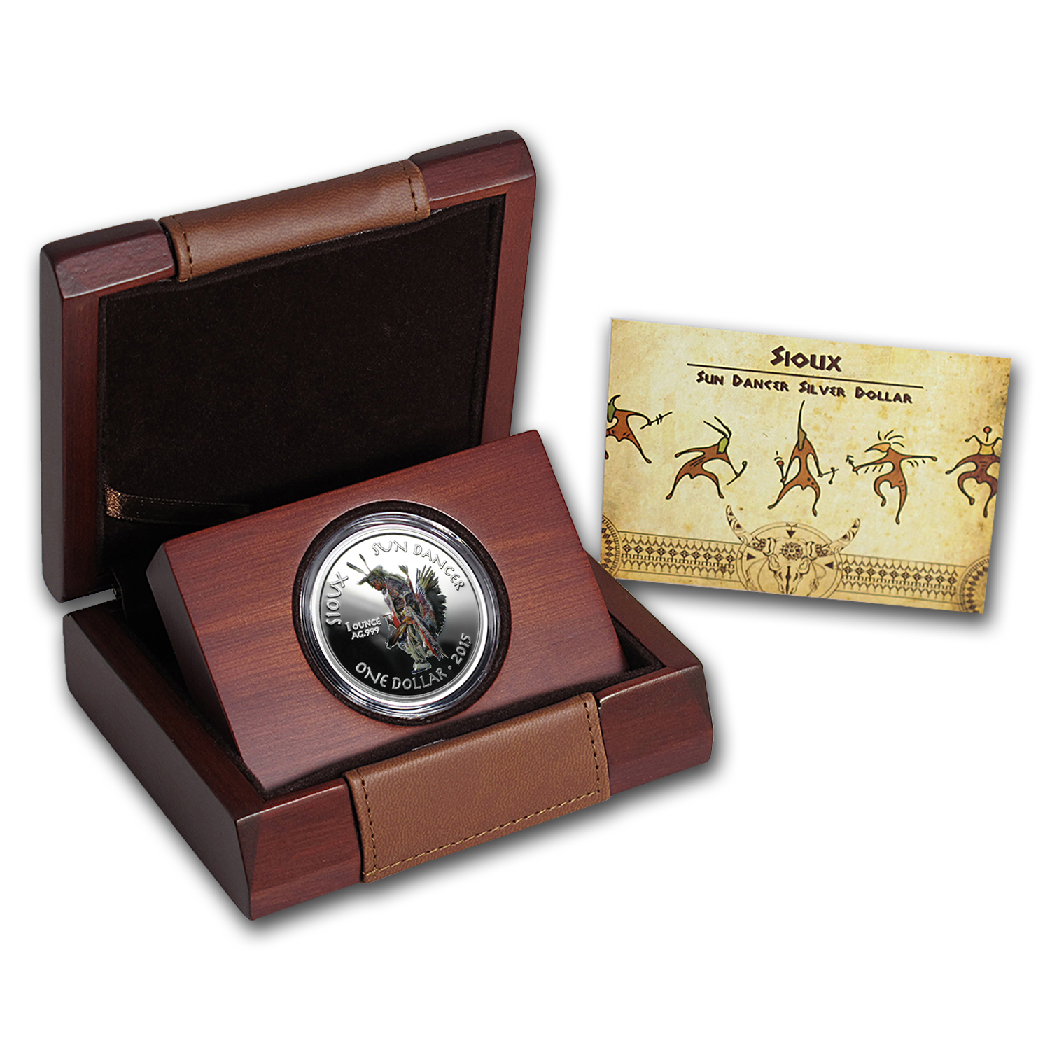 2015 1 oz Silver Proof Native American Mint $1 Sun Dancer