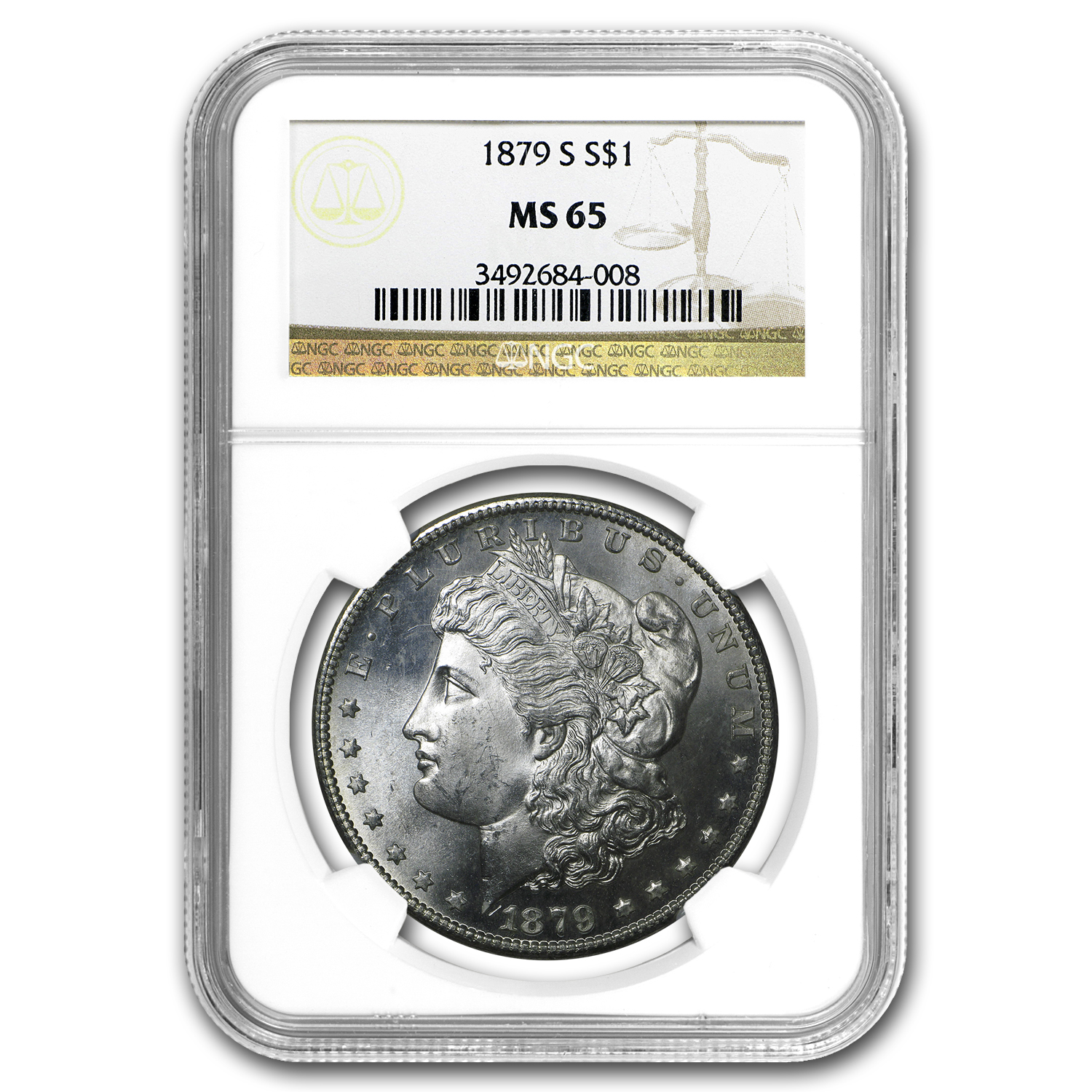 1878-1904 10-Different Dates/Mints Morgan Dollars MS-65 NGC