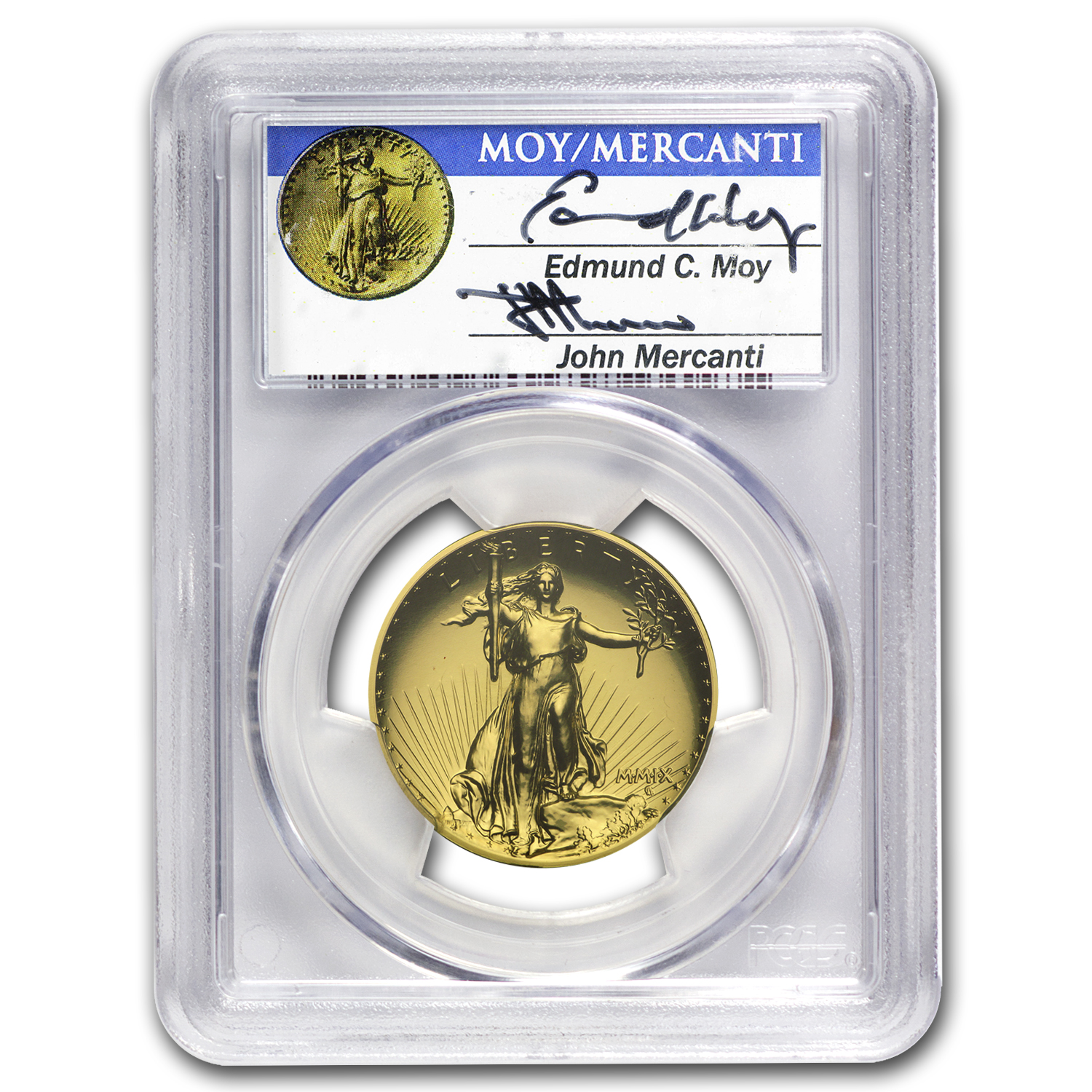 2009 Ultra High Relief Double Eagle MS70 PL PCGS (Dual Signature)