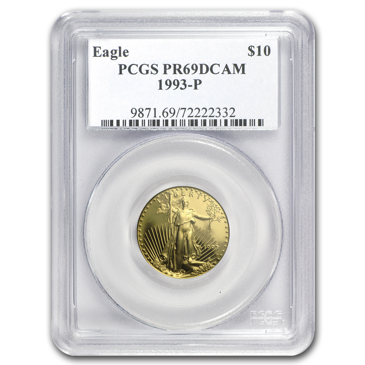 1993 4-Coin Proof Gold American Eagle Set PR-69 PCGS