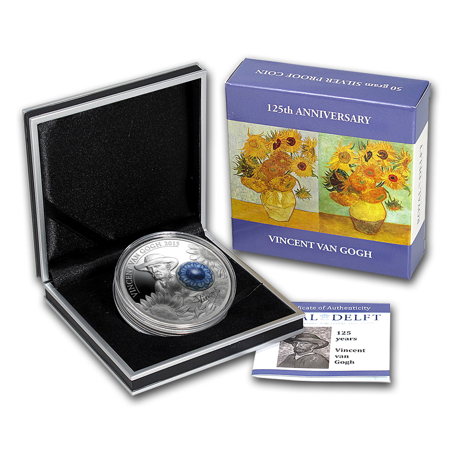 2015 Cook Islands Silver Royal Delft™ 125th Ann. Vincent van Gogh