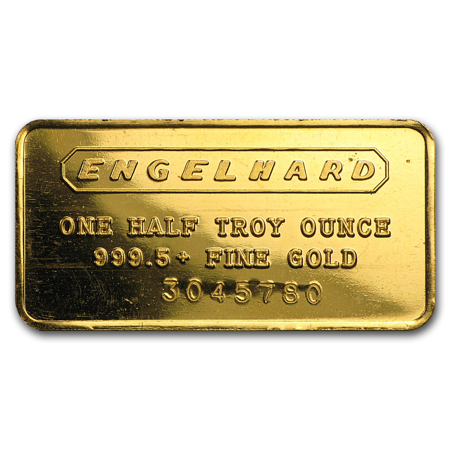 1/2 oz Gold Bar - Engelhard (Frosted, 7-digit)