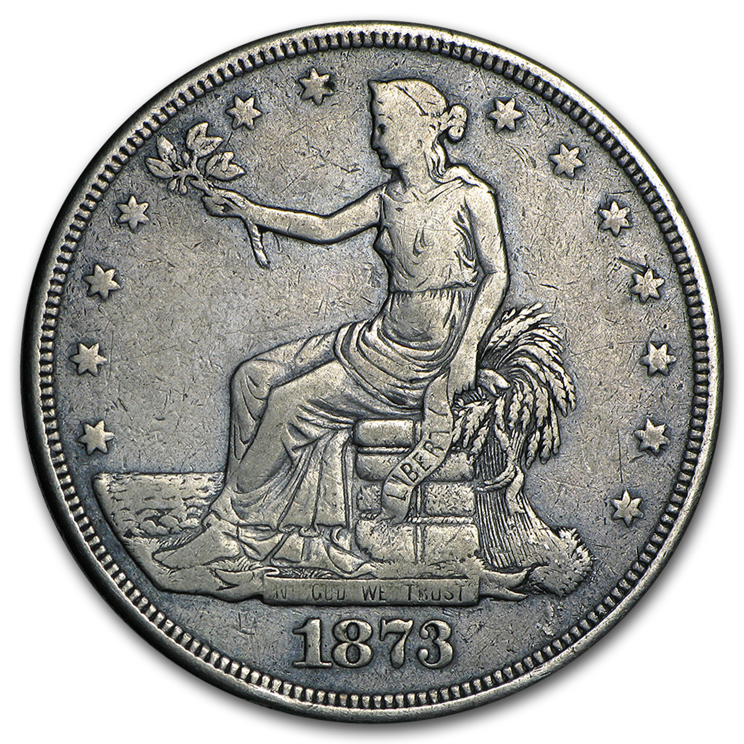 1873-CC Trade Dollar Very Fine